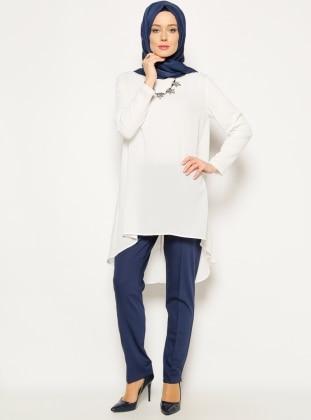 Klasik Pantolon - Açık Lacivert Modesty