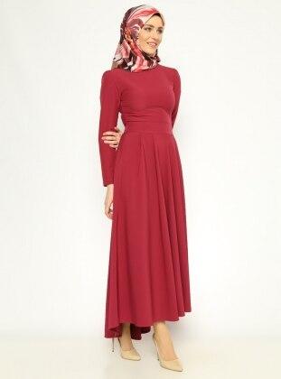 Pilise Detaylı Elbise - Yakut