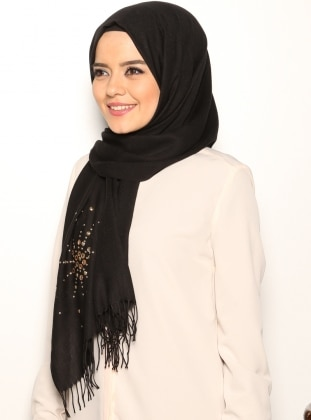Embellished Shawl - Black