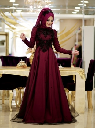 Minel Evening Dress - Fuchsia - Minel Ask 187108