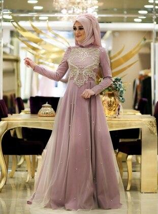 Minel Evening Dress - Powder - Minel Ask 187107