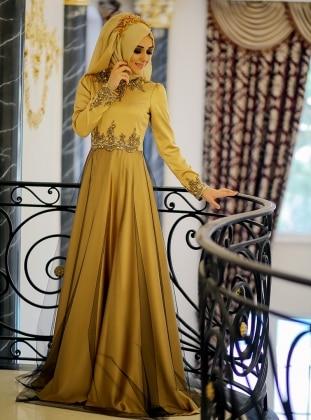 Peri Abiye Elbise - Gold Minel Aşk