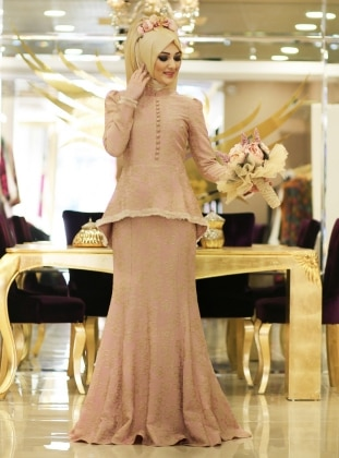 Sahika Dress - Powder - Minel Ask 187171