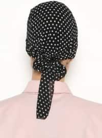 Black - Polka Dot - Pinless - Instant Scarf