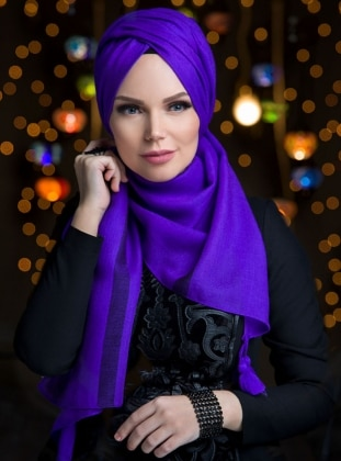 Fringe - Purple - Shawl