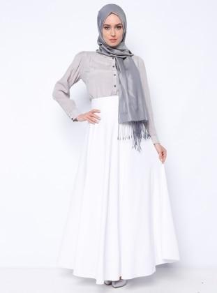 Flared Skirt - White