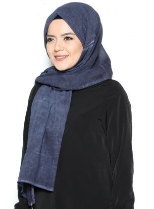 Cotton Shawl - Navy Blue