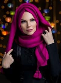 Pink - Fringe - Shawl
