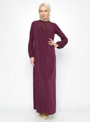 ALLDAY Tek Renk Elbise - Mor
