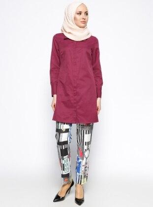 Desenli Pantolon - Siyah - Sarı Missmira
