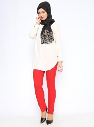 Klasik Pantolon - Kırmızı Missmira