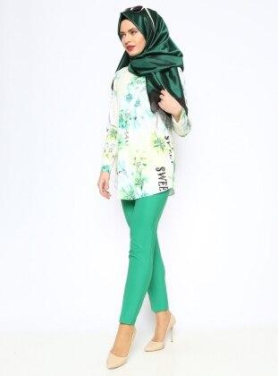 Klasik Pantolon - Yeşil Missmira