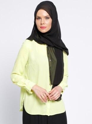 Sivri Yakalı Gömlek - Limon Yeşili Missmira