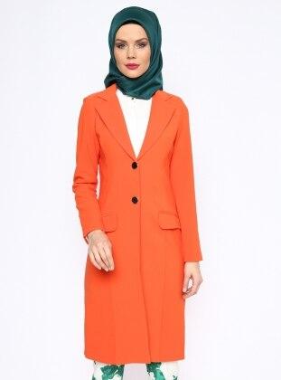 Uzun Ceket - Turuncu Missmira