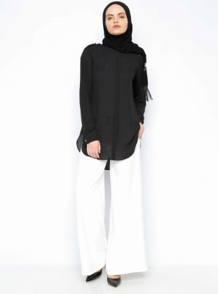Wide Leg Pants - Ecru