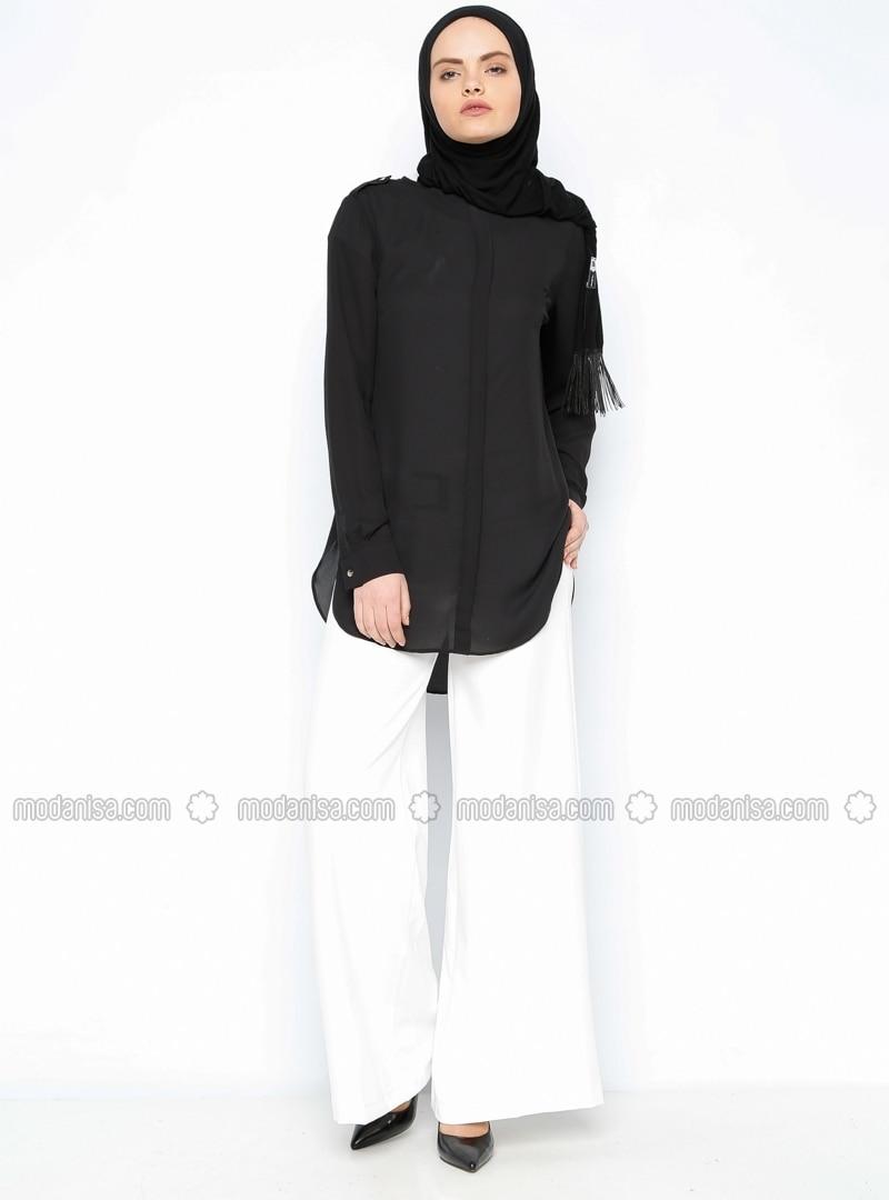 Wide Leg Pants - Ecru