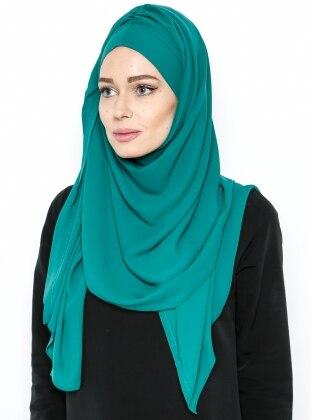 Semi-Instant Shawl - Green