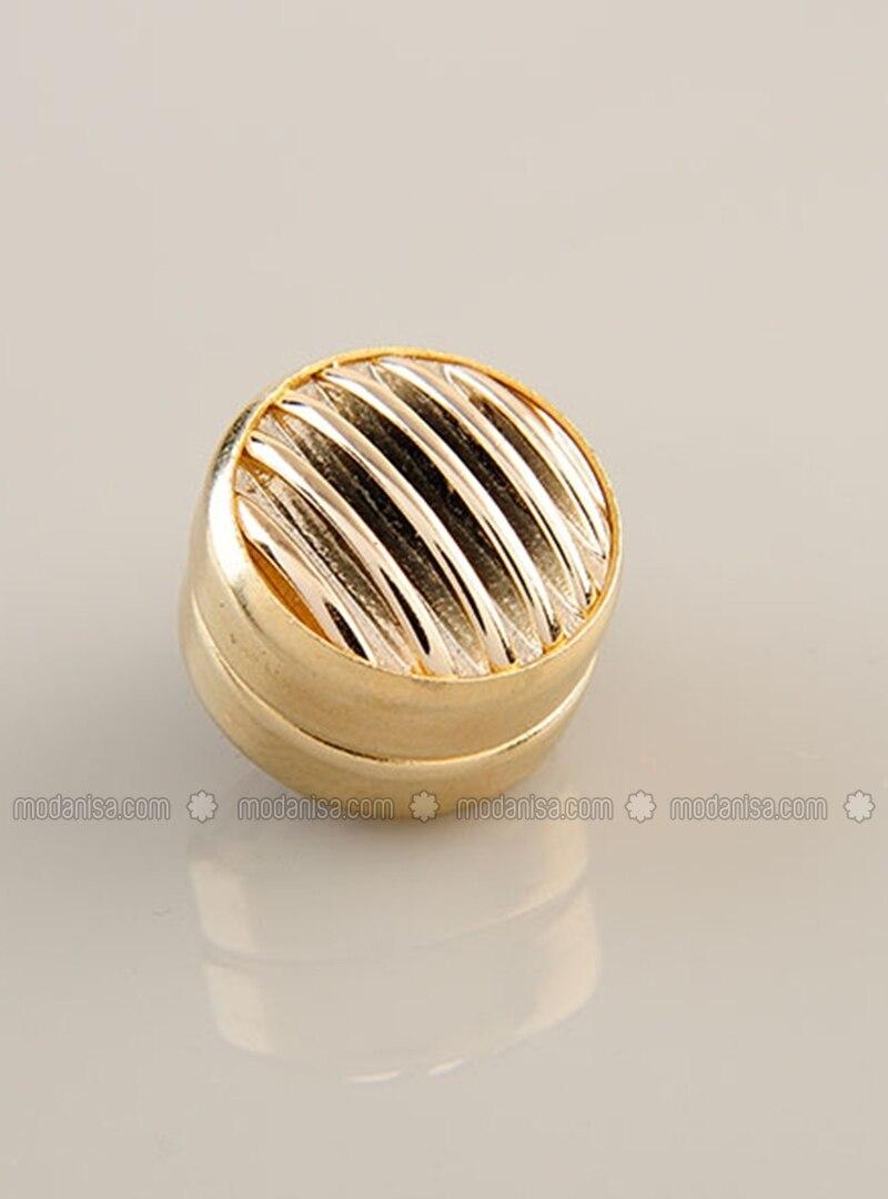Scarf Magnet Gold - Gold Plated Frame - Single Set - Fsg Taki