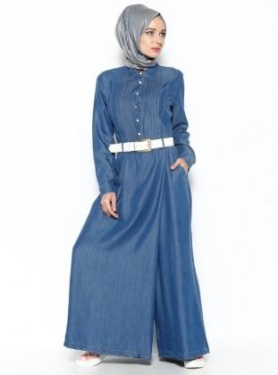 Tensel Tulum Elbise - Mavi Neways