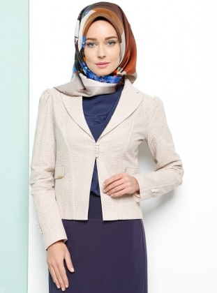Şal Yaka Ceket - Bej Armine