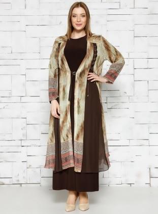 Elbise Hırka İkili Takım - Yeşil - he&de