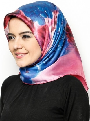 İpek Eşarp - Karışık Renkli