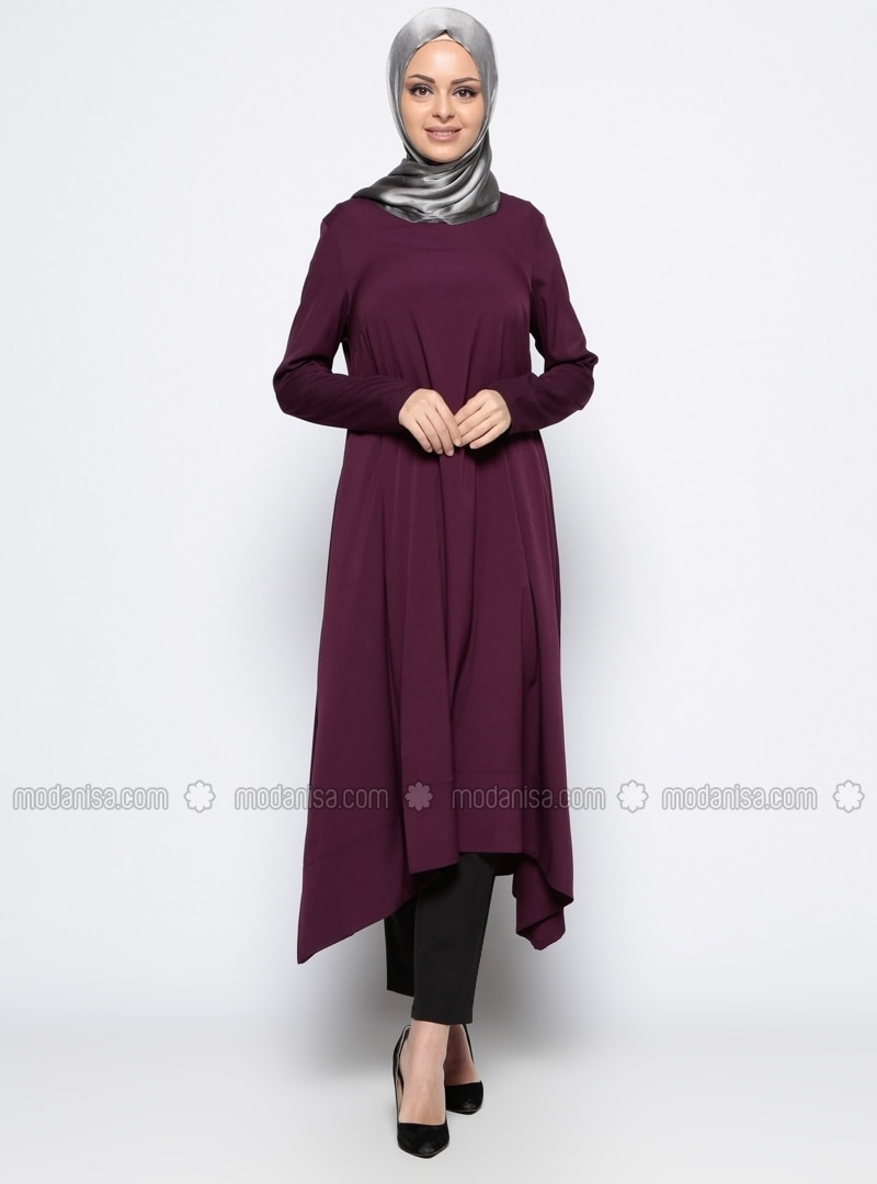 Asymmetrical Tunic - Plum