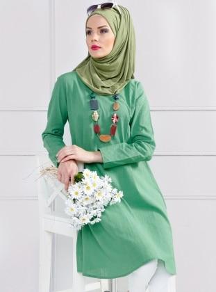 Kırçıllı Tunik - Yeşil
