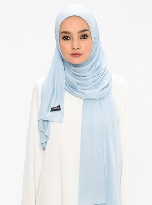 Jersey Combed Cotton Shawl - Blue