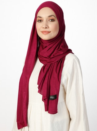 Jersey Combed Cotton Shawl - Dark Burgundy