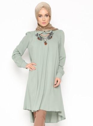 Green - Round Collar - Tunic