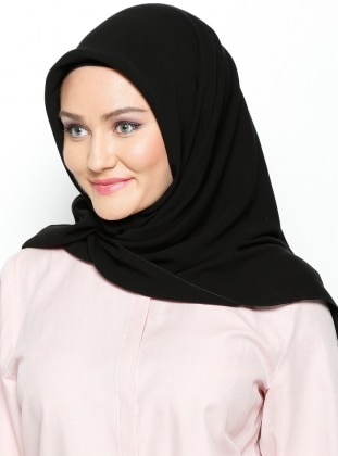 Medina Silk Scarf - Black - Misirli