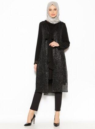 Payetli Ceket - Siyah Arzu Ergen