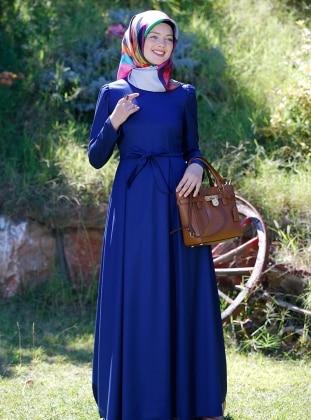 Adile Elbise - Lacivert