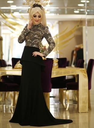 Burcu Abiye Elbise - Gold