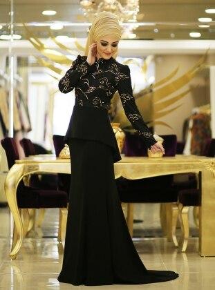 Burcu Abiye Elbise - Siyah