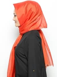Silk Voile Shawl - Red -  Esarp
