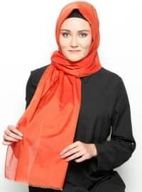 Silk Voile Shawl - Red -  Esarp