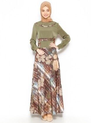 Patterned Dress - Green - Esswaap 203251