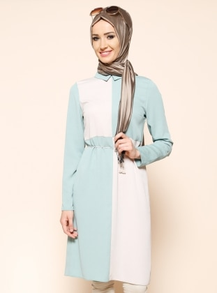 Topped Tunic - Green - Puane 202747