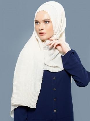 Cotton Trend Şal - Ekru Mervin