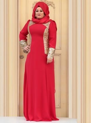 Mari Evening Dress - Red