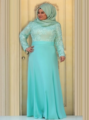 Sedef Evening Dress - Mint