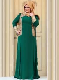 Mari Evening Dress - Emerald