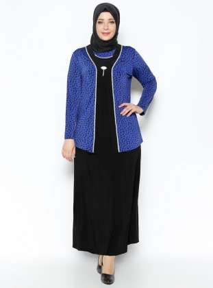 Ceket&Elbise İkili Abiye Takım - Saks