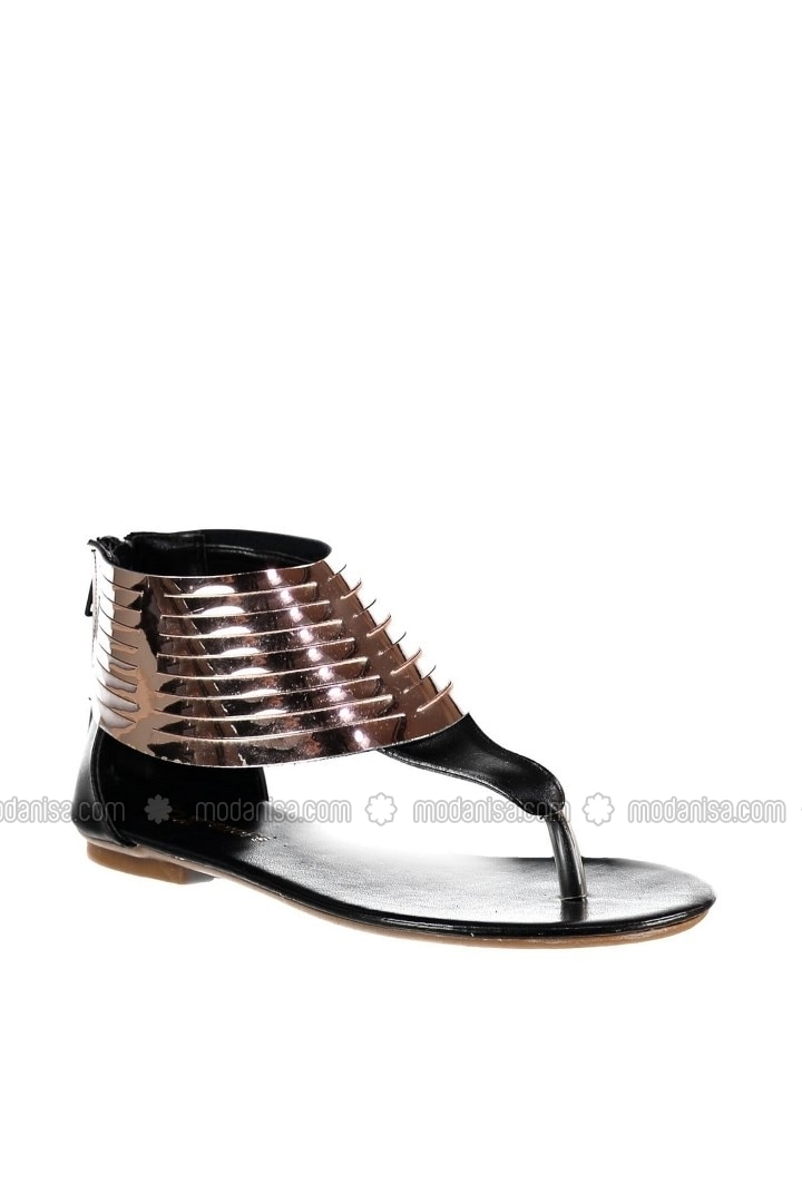 Sandals - Black/Copper