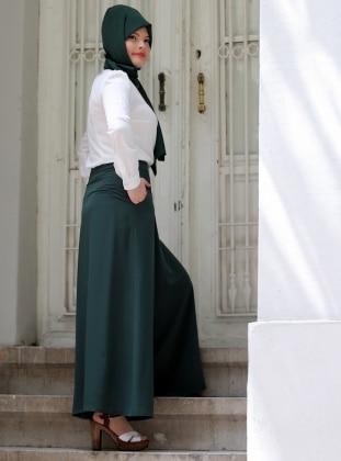 Pantolon Etek - Yeşil Azra Özer