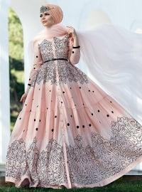 Fiore Elbise - Pudra - Muslima Wear