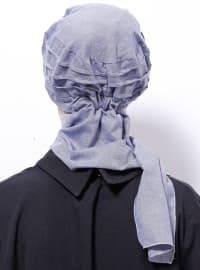 Blue - Cotton - Plain - Denim - Instant Scarf