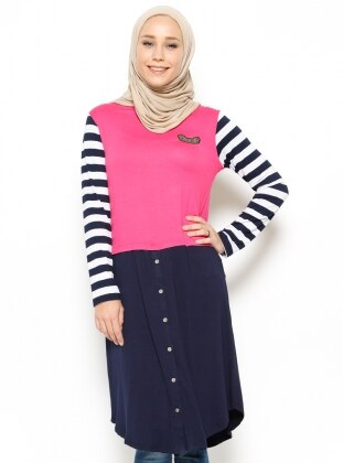 Striped Tunic - Navy Blue - Moonlight